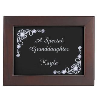 Silver Jewel Granddaughter Personalized Keepsake Keepsake Box