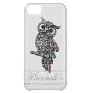 Silver Jewels Owl Photo Print iPhone 5C Cover