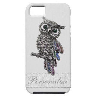 Silver Jewels Owl Photo Print iPhone SE/5/5s Case