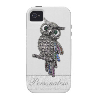 Silver & Jewels Owl Print Personalized iPhone 4/4S Case-Mate iPhone 4 Cases