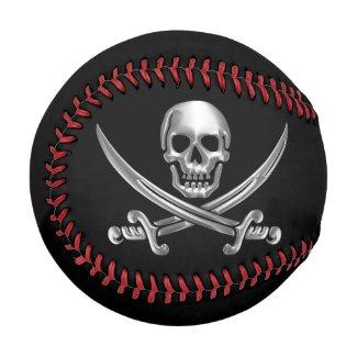 Silver Jolly Roger Baseballs