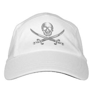 Silver Jolly Roger Hat