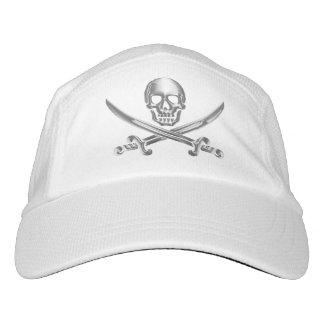 Silver Jolly Roger Headsweats Hat
