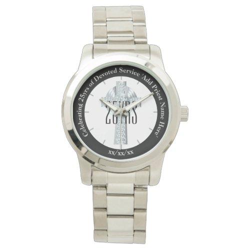 Silver Jubilee Religious Life Priest Anniversary Wristwatch