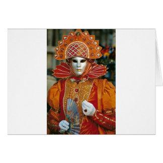 Silver Kabuku Mask Card