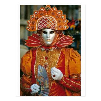 Silver Kabuku Mask Postcard