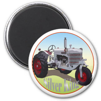 Silver King Tractor Magnet