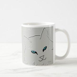 Silver Kitty Mug