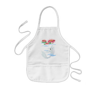 Silver Koi-Pink and Pink Lilies Aprons