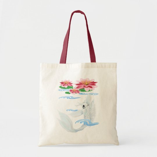 Silver Koi-Pink and Pink Lilies  Bags