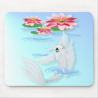 Silver Koi-Pink and Pink Lilies Mousepad