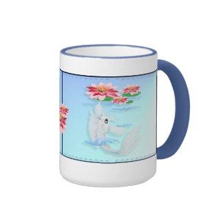 Silver Koi-Pink and Pink Lilies  Mugs