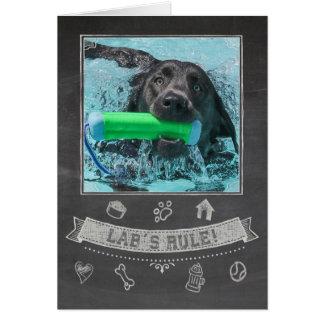 Silver Lab Chalkboard Birthday Card