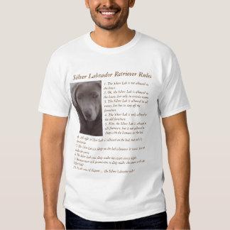 Silver Labrador Retriever Rules Remeras