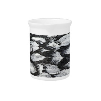 Silver Lace Feathers Drink Pitcher