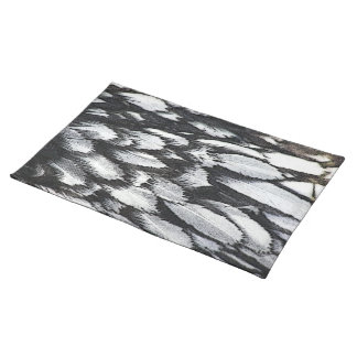 Silver Lace Feathers Placemat