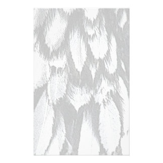 Silver Lace Feathers Stationery