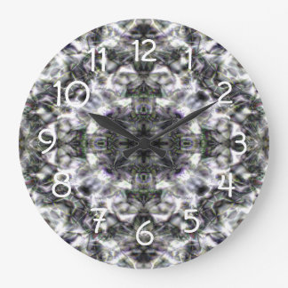 Silver Lace Large Clock