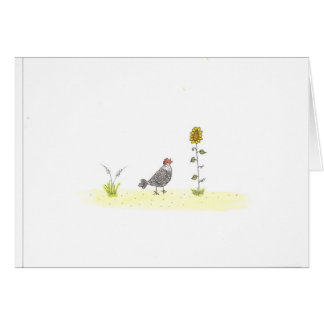 Silver Laced And Sunflower Card