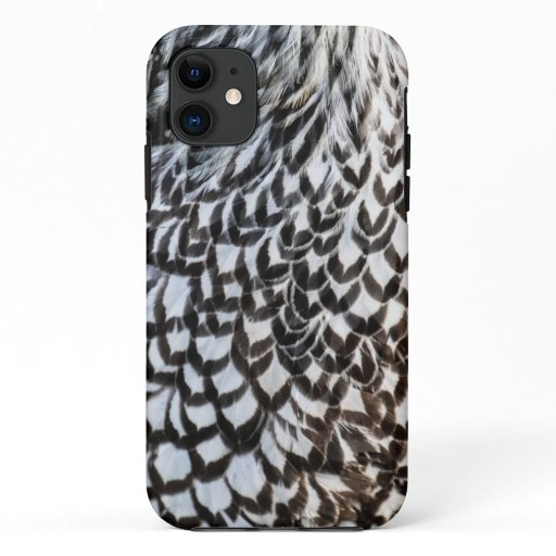 Silver Laced Wyandotte Feathers iPhone 11 Case