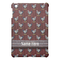 Silver Laced Wyandotte Rooster Barn Boards Cover For The iPad Mini