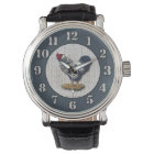 Silver Laced Wyandotte Rooster Barnboards Wrist Watch