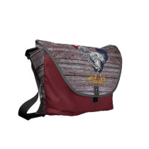 Silver Laced Wyandotte Rooster Courier Bag