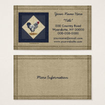 Silver Laced Wyandotte Rooster Denim Business Card