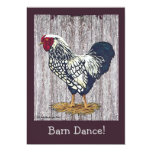 Silver Laced Wyandotte Rooster 5x7 Paper Invitation Card