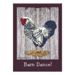 Silver Laced Wyandotte Rooster Invites