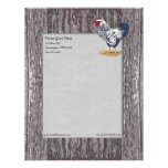 Silver Laced Wyandotte Rooster Letterhead