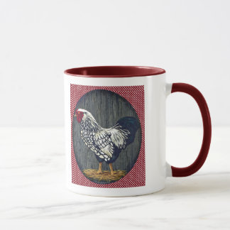 Silver Laced Wyandotte Rooster Mug