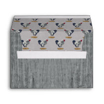 Silver Laced Wyandotte Roosters Barn Boards Envelope