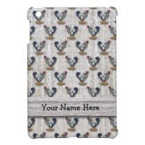 Silver Laced Wyandotte Roosters Barn boards iPad Mini Cover