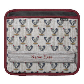 Silver Laced Wyandotte Roosters Barn boards iPad Sleeve