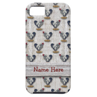 Silver Laced Wyandotte Roosters Barn boards iPhone SE/5/5s Case
