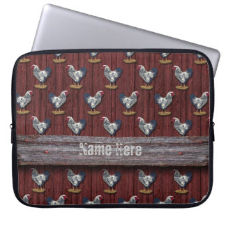 Silver Laced Wyandotte Roosters Barnboards Computer Sleeve