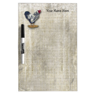 Silver Laced Wyandotte Roosters Barnboards Dry-Erase Board