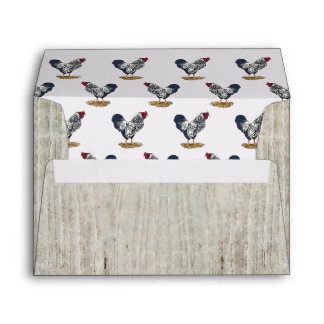 Silver Laced Wyandotte Roosters Barnboards Envelope