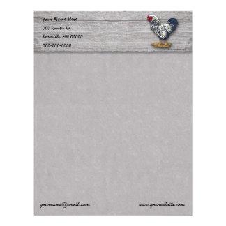 Silver Laced Wyandotte Roosters Barnboards Custom Letterhead