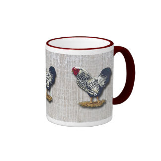 Silver Laced Wyandotte Roosters Light Barnboards Mug