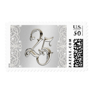 Silver Lacey 25th Anniversary Postage Stamp
