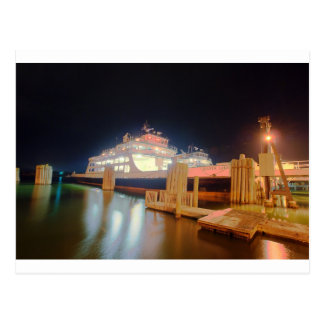 silver lake ferry boat at ocracoke island postcard