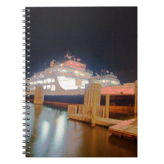 silver lake ferry boat at ocracoke island spiral notebook