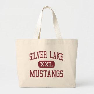 Silver Lake - Mustangs - High - Roseland Nebraska Tote Bags
