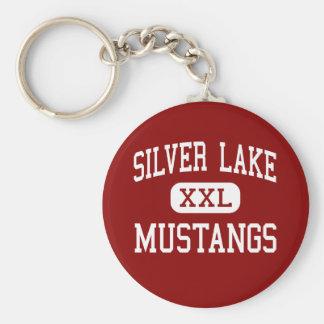 Silver Lake - Mustangs - High - Roseland Nebraska Basic Round Button Keychain