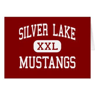 Silver Lake - Mustangs - High - Roseland Nebraska Greeting Card