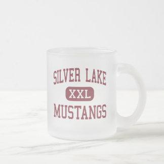 Silver Lake - Mustangs - High - Roseland Nebraska 10 Oz Frosted Glass Coffee Mug