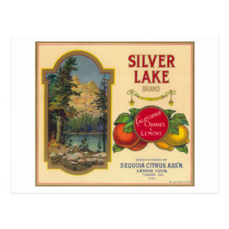 Silver Lake Orange LabelLemon Cove, CA Postcard