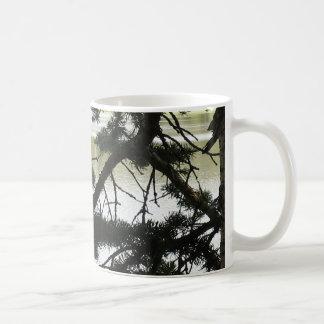 Silver Lake Through Pine Branches Mug